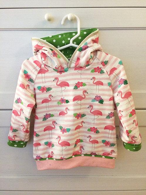 Kapuzenpulli Flamingos, Grösse 86