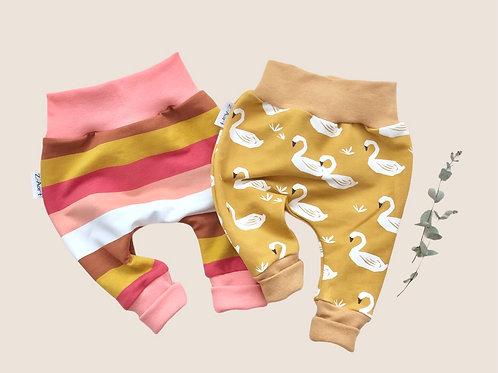 BabyHosen, stripes, Schwan, 50/56