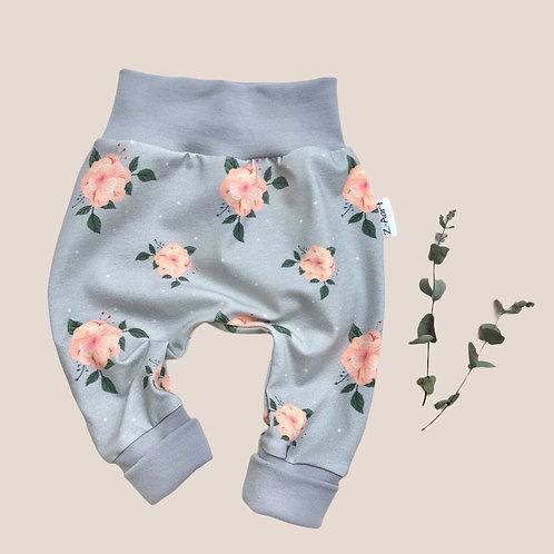 """BabyHose """"Blumen-grau"""""""