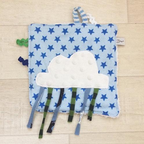 Fühl- Spieltuch blau mit Wolke
