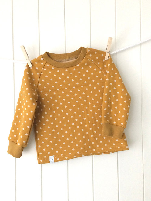 "Pullover ""curry dot"" Gr.80/86"
