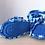 Thumbnail: Stiefelchen mit Zotteln blau, zum Binden
