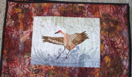 crane quilt by Cathy Little