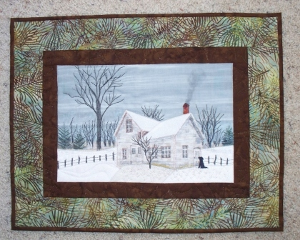 farm art quilt by Cathy Little