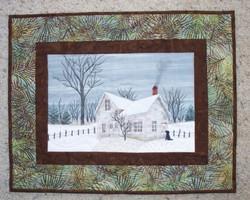 farm art quilt by Cathy Little