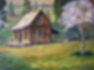 round robin painting by members of the salmon river art guil