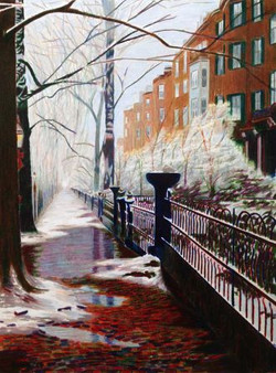 Kevin Cahill Melting Snow on Beacon Hill