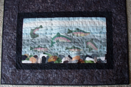 Cathy Little  trout art quilt