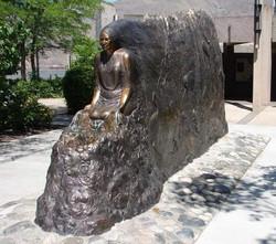 Sacajawea sculpture by Nancy Dreher