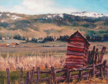 outhouse, corrals and meadows