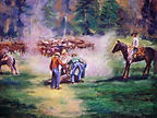 original paintings, cowboys