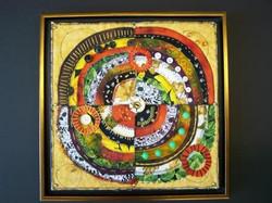 mixed media and fabric art
