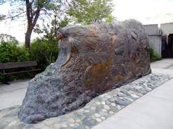 beautiful Sacajawea sculpture in historical downtown Lewiston Idaho