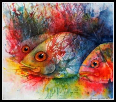 watercolor painting art fish