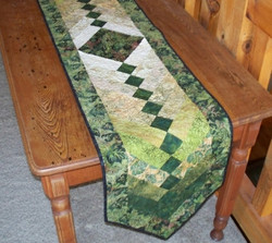 pieced table runner by Cathy Little