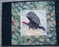 turkey art quilt by Cathy Little