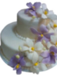 свадебные торты сиреневого цвета фото