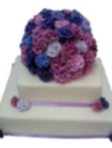 свадебные торты в фиолетовом цвете