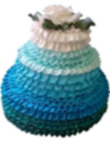 свадебный торт в бирюзовом цвете фото