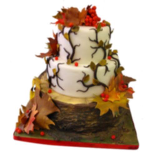 осенний торт на свадьбу
