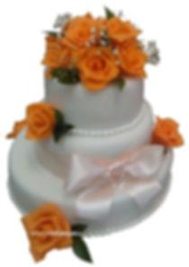 свадебные торты с розами фото