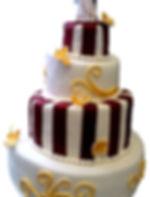 свадебный торт цвета марсала