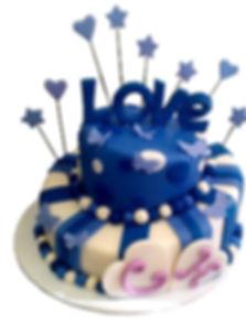 свадебные торты в синем цвете фото