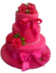 свадебный торт розового цвета