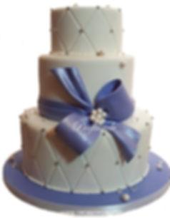 торт с бантом свадебное