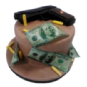 торт с пистолетом фото