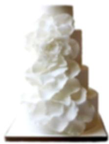 фото свадебных тортов белого цвета