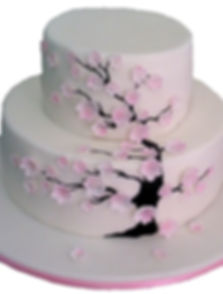 свадебный торт в персиковом цвете