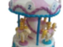 торт карусель фото