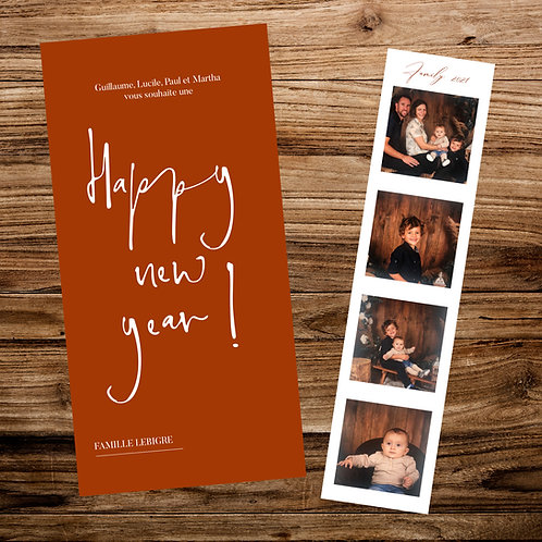 "Carte ""Happy new year"" FAMILY - X10 exemplaires"