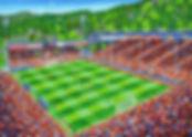 SC Freiburg Oel auf Leinwand 100x140cm 2