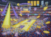 36 Staples Center 14 Oel auf Leinwand 16