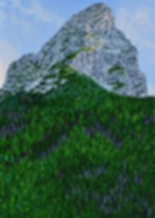38 Gipfel 14 Oel auf Leinwand 140x100cm.