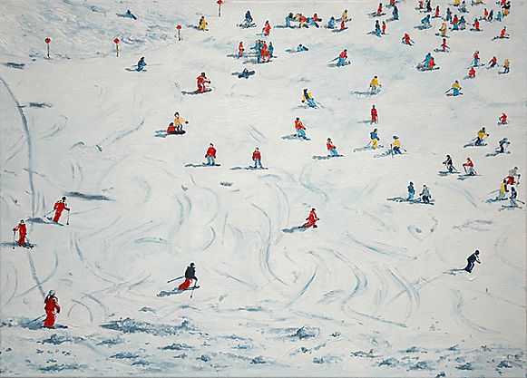 Skifahrer 8 05 Oel auf Leinwand 50x70.jp