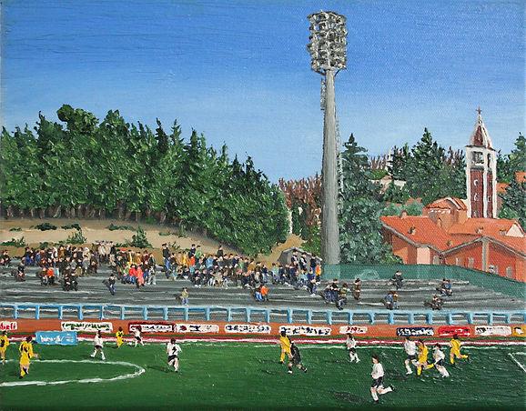 08_Fußball_Urbino_XII_07_Oel_auf_Leinwan