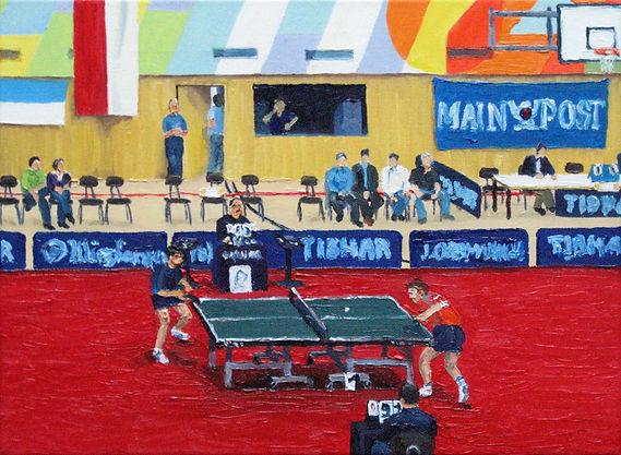 Tischtennis 2 06 Oel auf Leinwand 18x24.