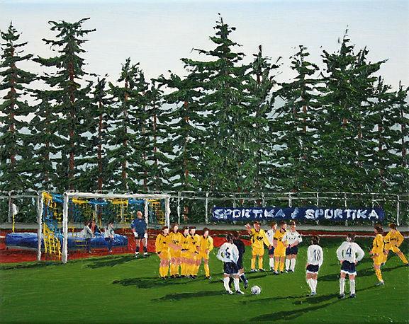 Fußball_Urbino_VIII_07_Oel_auf_Leinwand_