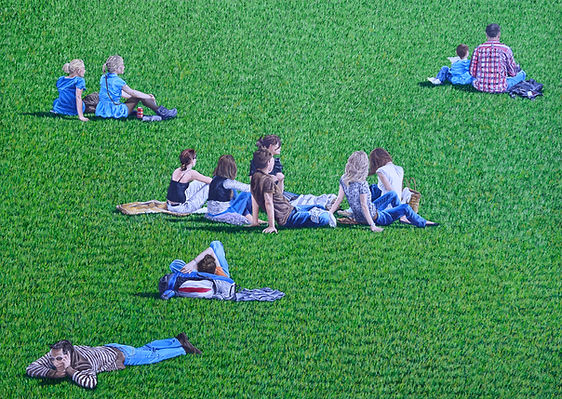 4 Picknick 13 Oel auf Leinwand 100x140cm