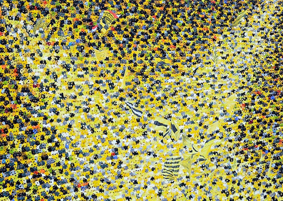 36 Gelbe Wand 12 Oel auf Leinwand 100x14