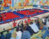 Tischtennis 3 06 Oel auf Leinwand 24x30.