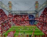 FC_Köln_-_SC_Paderborn_24x30cm_Öl_auf_Le