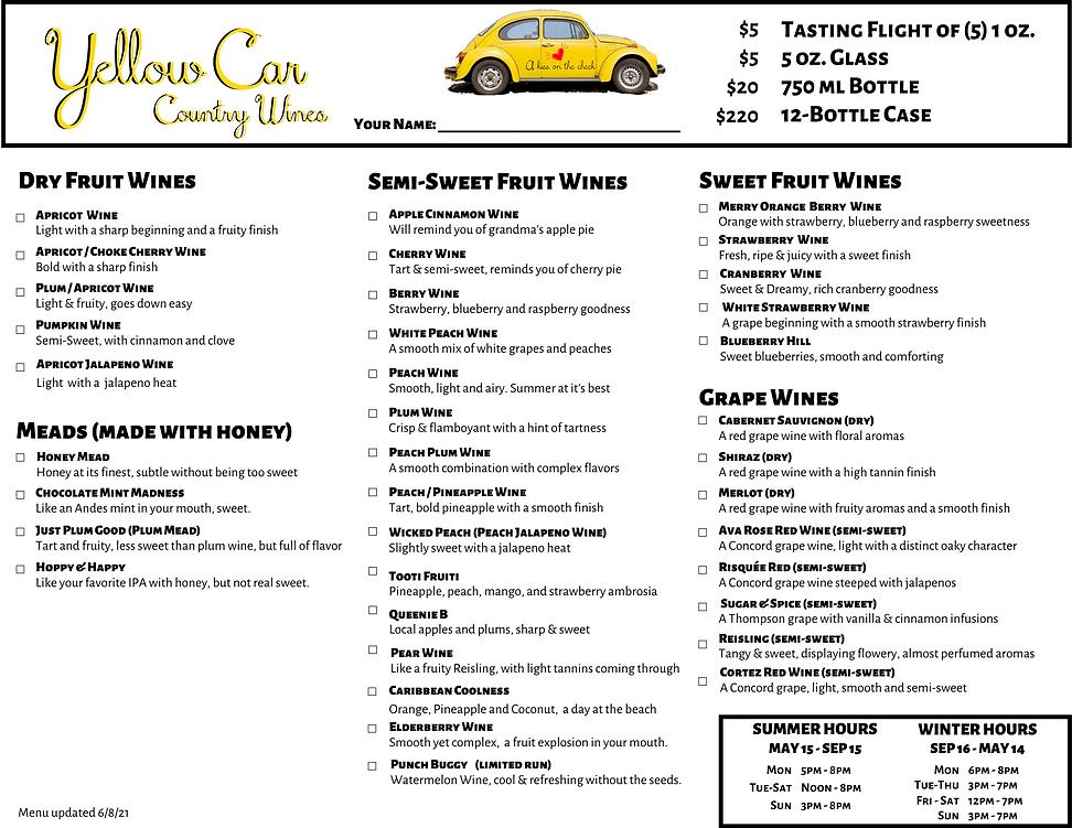 Yellow Car Wine Menu as of 2021-06-08.pn