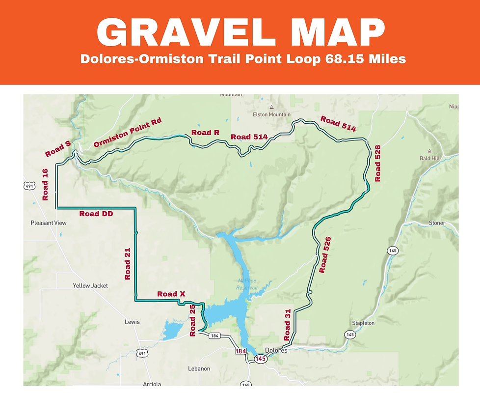 Gravel Map Dolores-Ormiston Trail Point