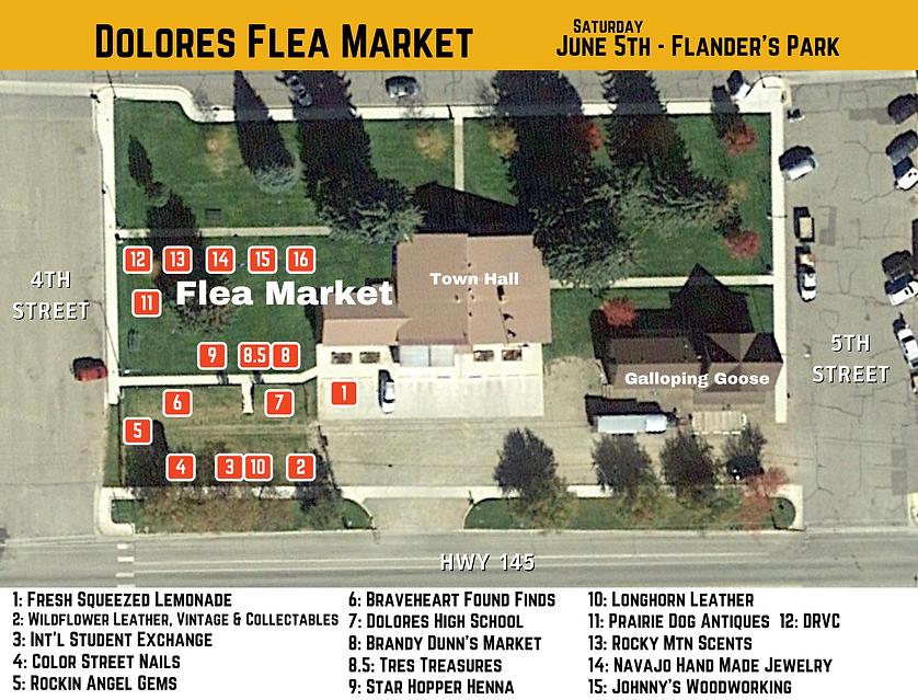 Flanders Park map Flea Market 2021 updat