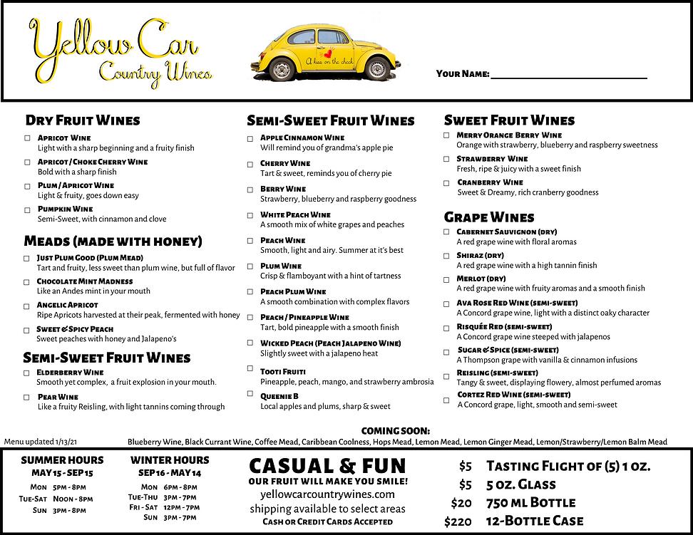 Yellow Car Wine Menu as of 1-13-21.png