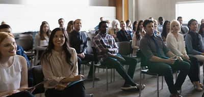 An audience at a speaking engagement.